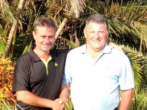 Golfers Gary Smith (left) and Arthur Ehlert, winners of the Saturday Club Competition at Margate Country Club